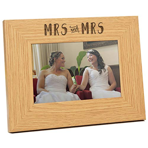 Engraved Mrs and Mrs Wedding Photo Frame - Mrs and Mrs Gift...