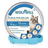 WOLFWILL Collier Anti-puces Chat Collier Antiparasitaire...