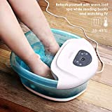 Maxkare Foot Spa Foot Bath Massager with Heat and Massage Vibration Bubbles 3 in 1 Multifunction, 4 Removable Manually Rollers Pedicure Spa Tired Feet Home Use Relief stress