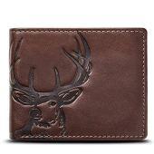 HOJ Co. DEER Wallet-Double ID Bifold-Full Grain Mens Leather Wallet-Multi Card Capacity