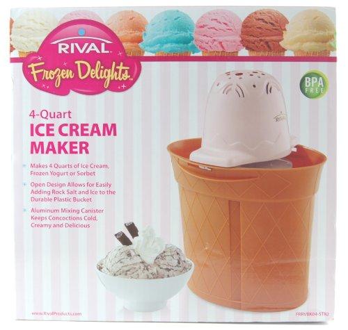 Rival Frozen Delights 4 Quart Ice Cream Maker Pink