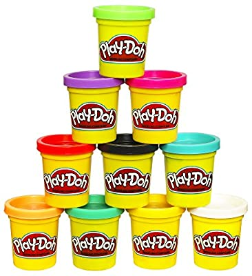 10 cans of creative fun – kids can get creative with just the right colors They need in this Play-Doh 10-pack of 2-ounce cans! Just the right colors to start - shape, squish, mix, and make it all. Great for lots of uses like Play-Doh refills, as a Pl...