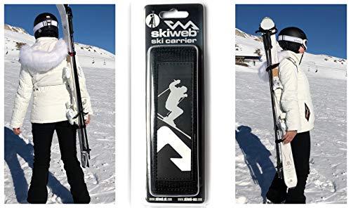 Skiweb Ski Tracolla per Sci e Racchette da Sci Design Classico