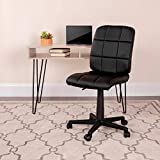 Flash Furniture Mid-Back Black Quilted Vinyl Swivel Task Office Chair, BIFMA Certified