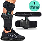 Ankle Gun Holster For Concealed Carry, Leg Pistol Holster | Extra Strap | Comfortable & Durable | Fits: Glock 19 26 27 43, Ruger, Kimber, XDS 45, M&P Shield 9mm, Bodyguard .380 & Sig Sauer P365 P238