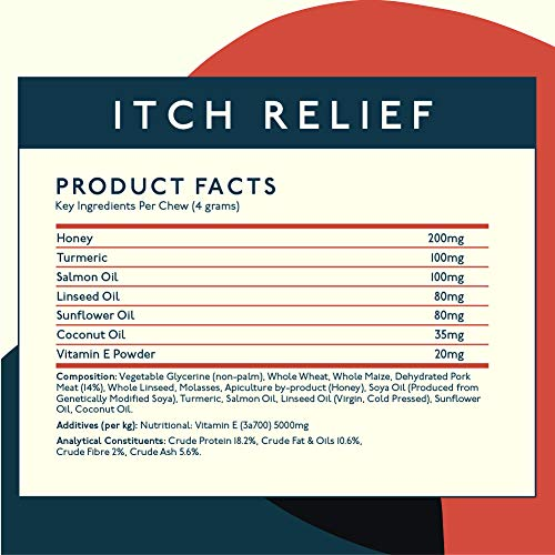Petlab Co. Itch Relief Chews for Dogs | Anti Itch Dog Chews for Soothing Itchy Dog Skin | Turmeric Curcumin, Fatty Acids, and Hone 6