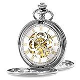 ManChDa Reloj de Bolsillo Retro Suave Clásico Mecánico Hand-Wind Reloj de...