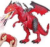 Baztoy Dinosaure Telecommandé, Dinosaure Enfant Jouet avec Marche Rugissement...