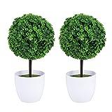 LIOOBO 2pcs Plantas Artificiales Bola simulada Planta Decorativa Bonsai Bola de Flores de plstico para la decoracin del jardn del hogar (Verde)