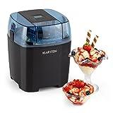 Klarstein Creamberry Máquina de helado -10 W de potencia, Capacidad 1,5 litros, Bajo consumo, Rápida elaboración en 20 minutos, Fácil de utilizar, Apagado automático, Pantalla digital, Negro