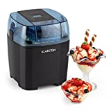 KLARSTEIN Creamberry - Machine à Glace 4 en 1 pour préparation de Glace, Frozen Yoghurt, Milkshakes ou Stockage de Boissons fraiches - bac Isotherme 1,5L, préparation de Glace en 20min - Noir