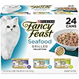 Purina Fancy Feast Gravy Wet Cat Food Variety Pack, Seafood Grilled Collection - (24) 3 oz. Cans
