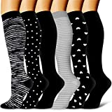 Copper Compression Socks Women and Men-Best for Running,Athletic,Varicose Veins,Nursing,Hiking,Recovery & Flight Socks