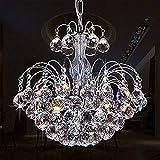 Glighone LED Kronleuchter Kristall Pendelleuchte Lüster Modern Hängeleuchte Anhänger Kristallkronleuchter Luxuriös 3pcs Leuchten