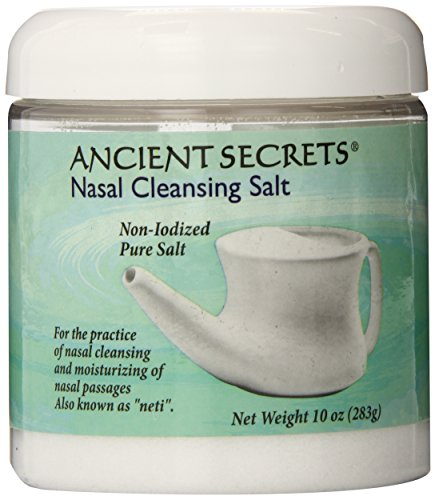 Ancient Secrets Nasal Cleansing Salt, 10 oz,Jar (Pack of 3)