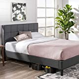 Zinus Lottie Upholstered Platform Grey Bed Frame | FSPB-Q Model | Queen