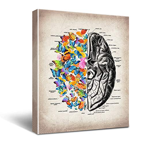 Anatomy Brain Canvas Wall Art for Doctor Office Decor,...