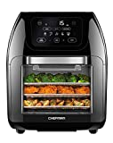 Chefman Multifunctional Digital Air Fryer+ Rotisserie, Dehydrator, Convection Oven, 17 Touch Screen Presets Fry, Roast, Dehydrate & Bake, Auto Shutoff, Accessories Included, XL 10L Family Size, Black