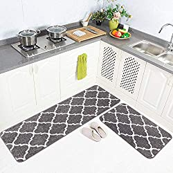 Carvapet 2 Pieces Microfiber Moroccan Trellis