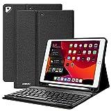 Teclado para iPad 10.2 9th 2021/8th 2020/7th 2019, Funda Teclado para iPad 9 Gen y Air 3 Teclado Inalámbrico para iPad Pro10.5' con Teclado Desmontable Bluetooth Español ,Funda para iPad 8 Generación