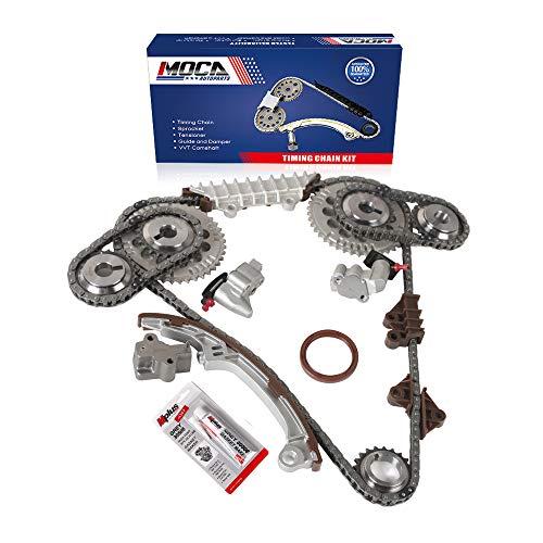 MOCA Engine Timing Chain Kit for 1995-2001 for NISSAN Maxima & 1996-2001 Infiniti I30 3.0L DOHC 24V V6 VQ30DE Code