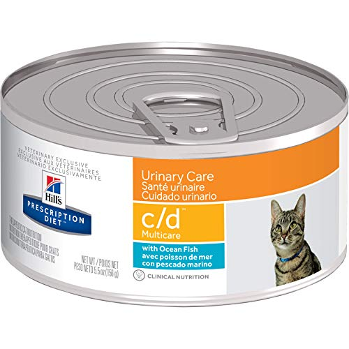 Hill's Prescription Diet c/d Multicare Urinary Care with Ocean Fish Canned Cat Food, 5.5 oz, 24-pack wet food