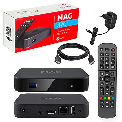 MAG 420 Original Infomir & HB-Digital 4K IPTV Set Top Box...