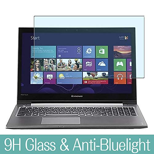 "Synvy Anti Blue Light Tempered Glass Screen Protector for Lenovo Ideapad P500 Touch 15.6"" Visible Area 9H Protective Screen Film Protectors"
