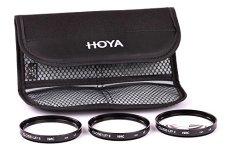 Hoya Close-up Kit - Juego de filtros para macro fotografía (+1, 2, 4, 55 mm) color negro