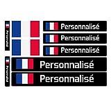 Haberdashery Online 9 Autocollants en Vinyle pour vélo, Moto, Bouteille, des Objets, etc. Drapeau Plus Nom Personnalisé