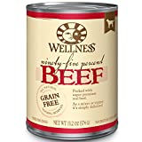 Wellness 95% Beef Natural Wet Grain Free Canned Dog Food, 13.2-Ounce Can (Pack Of 12)