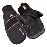 RefrigiWear Men's PolarForce Insulated Mittens with Grip Assist and Touchscreen Compatible Thumb (Black, X-Large)