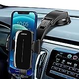 Mpow Supporto Cellulare Auto, Porta Cellulare Auto per Cruscotto con Ventosa Potente, Doppio Pulsante di Rilascio, Compatibile con iPhone 12 SE 11 PRO Max XS XR, Galaxy Note 20 S20 S10 e Altro