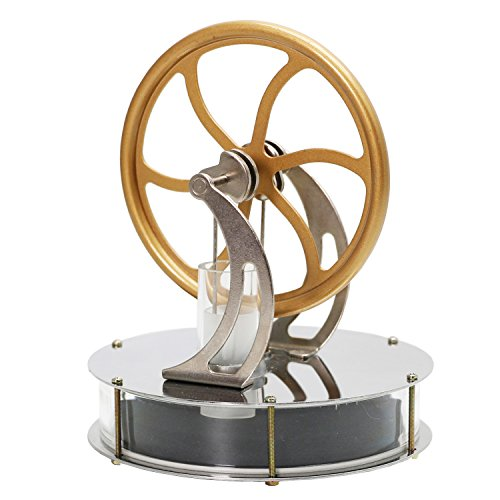 Exqline Stirlingmotor Sterling Engine Stirling Motor Sterling Motor Handwärme Stirling Pädagogisches Spielzeug Geburtstagsgeschenk Kinder und Technikbegeisterte