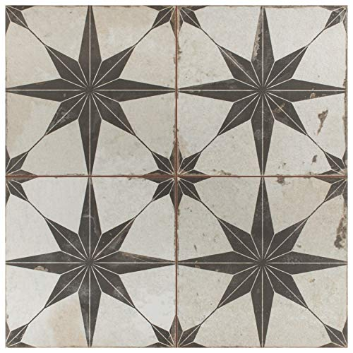 SomerTile FPESTRN Reyes Astre Ceramic Floor and Wall, 17.625' x...