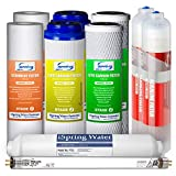iSpring F10KU 1-Year Replacement Supply Filter Cartridge Pack Set for 7-Stage Alkaline Mineral UV Reverse Osmosis RO Systems, 10X2.5, white, 10 Piece