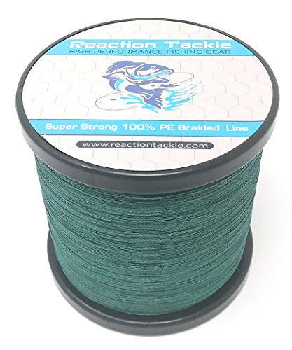 Reaction Tackle Moss Green 50LB 1500yd