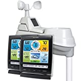 AcuRite Iris 01078 Wireless Weather Station with 2 Displays and 5-in-1 Weather Sensor: Temperature and Humidity Gauge, Rainfall, Wind Speed and Wind Direction