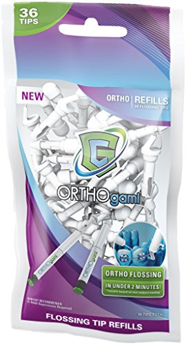 GumChucks   Fastest Flossing Tool for Braces   ORTHOgami Floss Starter Pack   Reusable Handles + Flossing Tips