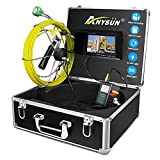 ANYSUN Pipe Pipeline Inspection Camera 30M/98ft Drain Sewer Industrial Endoscope Video Plumbing...