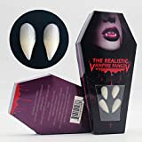 ZTHT Vampire Fangs, Vampire Teeth with Blood & Adhesive Devil Dracula Ghost Fangs for Kid and Adult