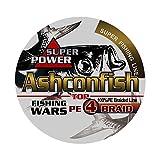 Ashconfish PEライン 釣り糸 X4 300m (0.4号 0.6号 0.8号 1号 1.2号 1.5号 2号 2.5号 3号 3.5号 4号 5号 6号 7号 8号 9号 10号) マルチカラー