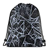 GeorgoaKunk Mochila con cordón Ice Cracks 3D Print String Bag Sackpack Cinch Tote Bags Regalos para Mujeres Hombres Gimnasio Compras Deporte Yoga