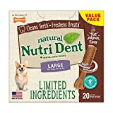 Highly Digestible – Chew treats contain no added salt, no artificial preservatives, and no artificial color Nutri Dent dental dog treats feature a simple formula with limited ingredients Natural dental Chews freshen breath and clean teeth Each natura...