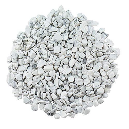 UFEEL Howlite Tumbled Chips Stone Crushed Crystal Quartz...