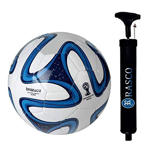 RASCO Combo Football with Air Pump (Multicolour, Polyester)