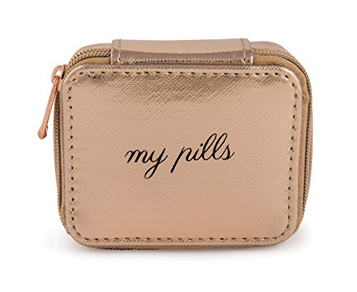Miamica Women's Pill Case, Rose Gold