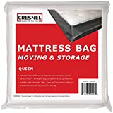 CRESNEL Mattress Bag for Moving & Long-Term Storage - Queen Size - Enhanced Mattress Protection with 5 mil Super Thick Tear & Puncture Resistance Polyethylene