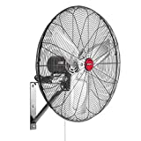 OEM TOOLS 24 Inch High-Velocity Indoor Oscillating Wall Mount, New Model Commercial Fan, 6500 CFM, Black