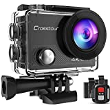 Crosstour Sports Action Camera 4K 20MP WiFi Vlogging Camera Underwater 40M with Remote Control IP68...